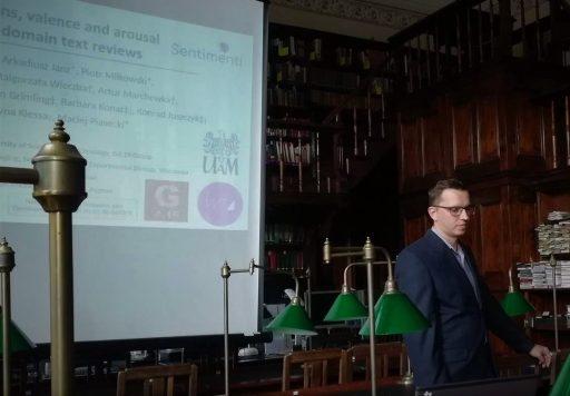 Dr Jan Kocoń prezentuje wyniki badań SENTIMENTI na LTC 2019